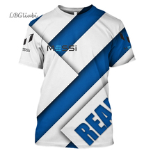 2019 new Messi sports T-shirt 3D printed football sweatshirt fans men and women fashion Barcelona shirt