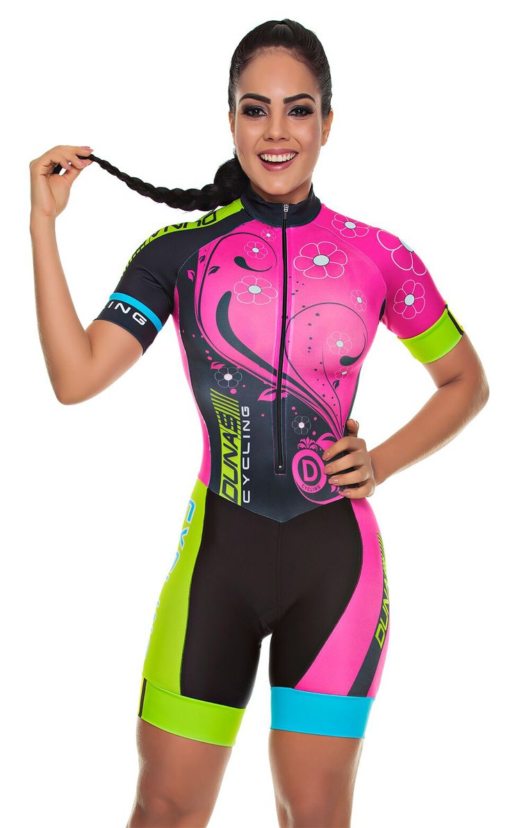 2020 Pro Team Triathlon Suit Women's Cycling Jersey Skinsuit Jumpsuit Maillot Cycling Clothing Ropa Ciclismo Set Pink Gel Pad