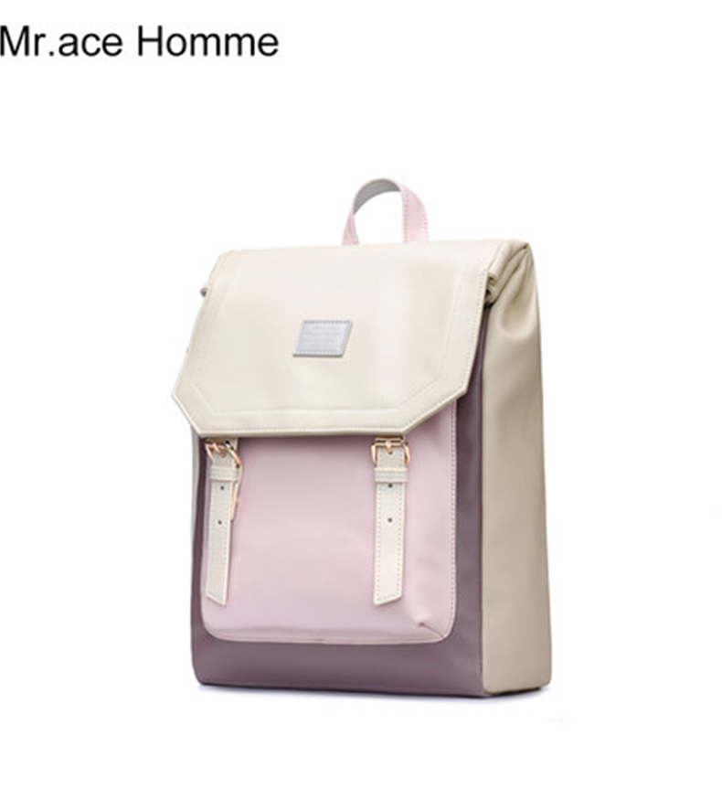 Small Pu Leather Backpack Women White School Backpack For Girl Travel Bag Japanese College Bagback Women