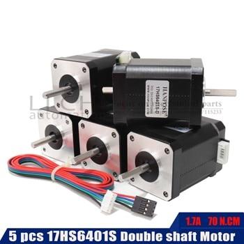 5pcs 1.8A 60MM length Double shaft 42 motor 4-lead NEMA 17 Stepper motor  17HS6401S motor for 3D printer and cnc
