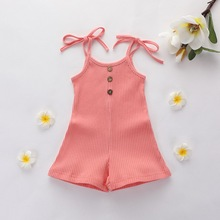 Baby Knitted Rompers Sleeveless Summer Fashion  Strap Jumpsuit Newborn Baby Girls Romper One-piece Outfits Clothes Jumpsuits D30 baby knitted clothes baby girls rompers jumpsuit boy newborn infant baby sleeveless outfits clothes cute overall