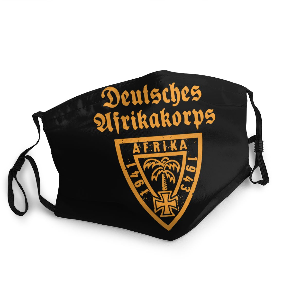 Deutsches Afrikakorps DAK Emblem Wehrmacht Reusable Face Mask Panzer Anti Haze Dustproof Protection Cover Respirator