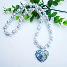 Дисней «Холодное сердце» 2 ожерелье фигурку Эльза подвесные аксессуары для девочек для костюмированного представления, с изображением мул...