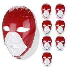 USB Rechargeable LED Facial Neck Mask Photon Rejuvenation Shrinkage Pore Firming Skin Anti-Wrinkle Color Light Beauty Equipment