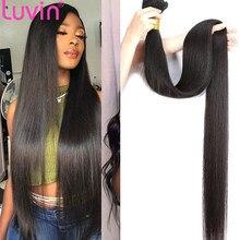Luvin 28 30 40 Polegada cabelo reto brasileiro 100% cor natural remy feixes de cabelo humano extensões tecer 1/3/4 peças ofertas