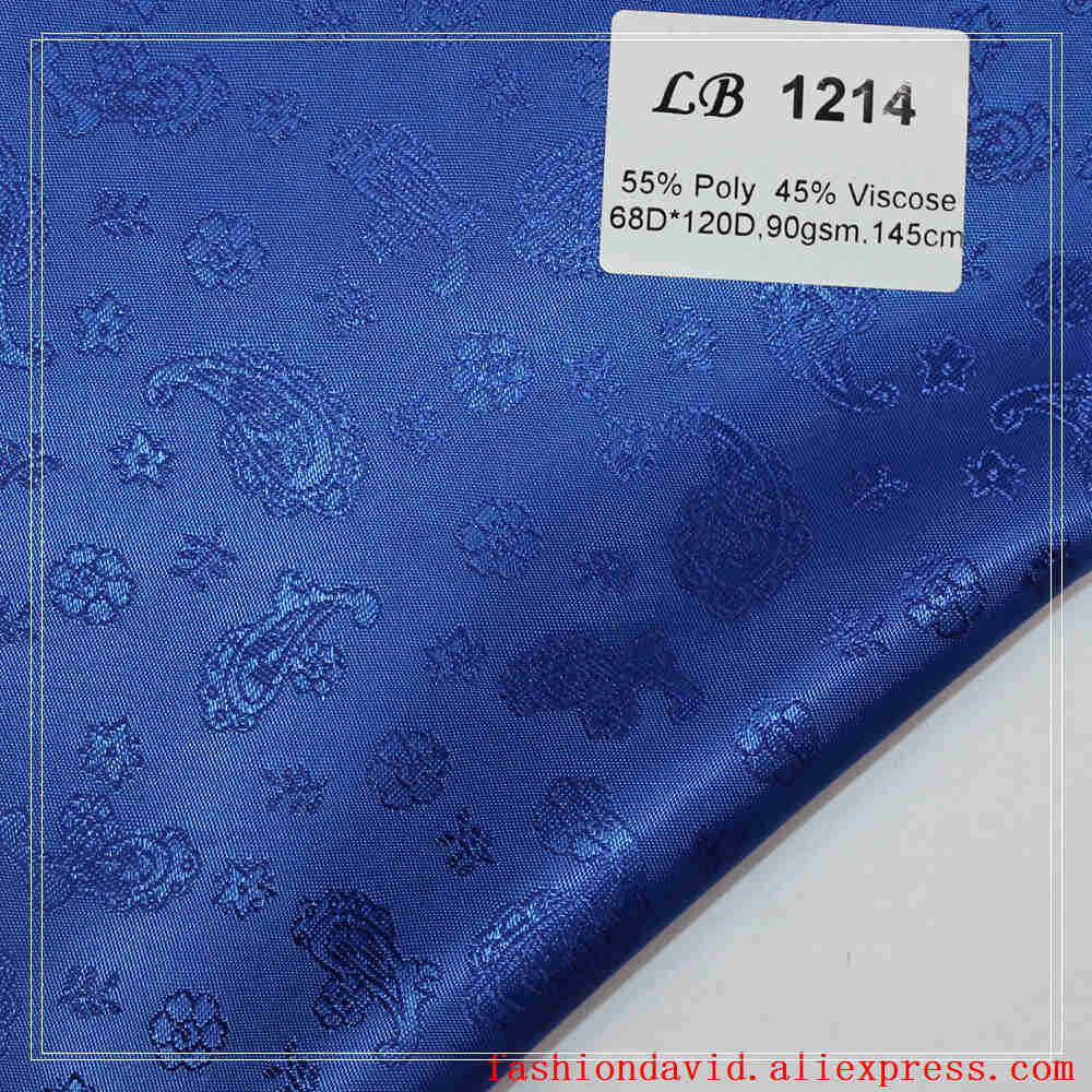 Taffeta Clothing Fabric Lining 100cm*150cm 80 Colors 55% Polyester And 45 % Viscose Jacquared Flower Riboux For Dress Suit Coat