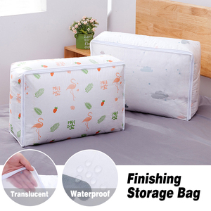 2020 new Non-woven Portable Clothes Storage Bag Organizer Foldable Two Size Of Storage Bag For Pillow Blanket Bedding New(China)