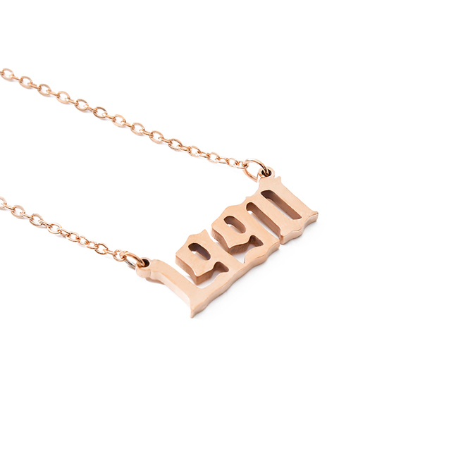 Old English Number pendant Necklaces  Jewelry Special Date Year 1991 1992 1993 1994 1995 1996 1997 1999 Birthday Gift