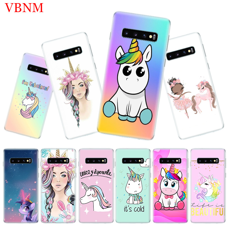 My Unicorn Popular Soft Phone Case for Samsung Galaxy S10 Plus S10E A50 A70 A30 A10 A20E M40 M30 M20 M10 A20 A80 A40 A60 Cover in Half wrapped Cases from Cellphones Telecommunications