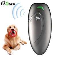Tragbare Handheld Ultraschall Anti Bellen Hund Zug Regler für Abweisend Simulator Gerät 2 in 1 Anti Bellen Stop Repeller