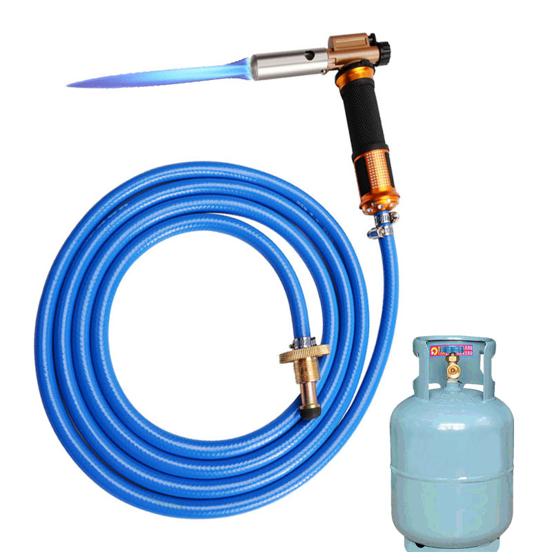 Liquefied Propane Gas Electronic Ignition Welding Gun Torch Machine Equipment With 2.5M Hose For Soldering Weld Cooking Heating