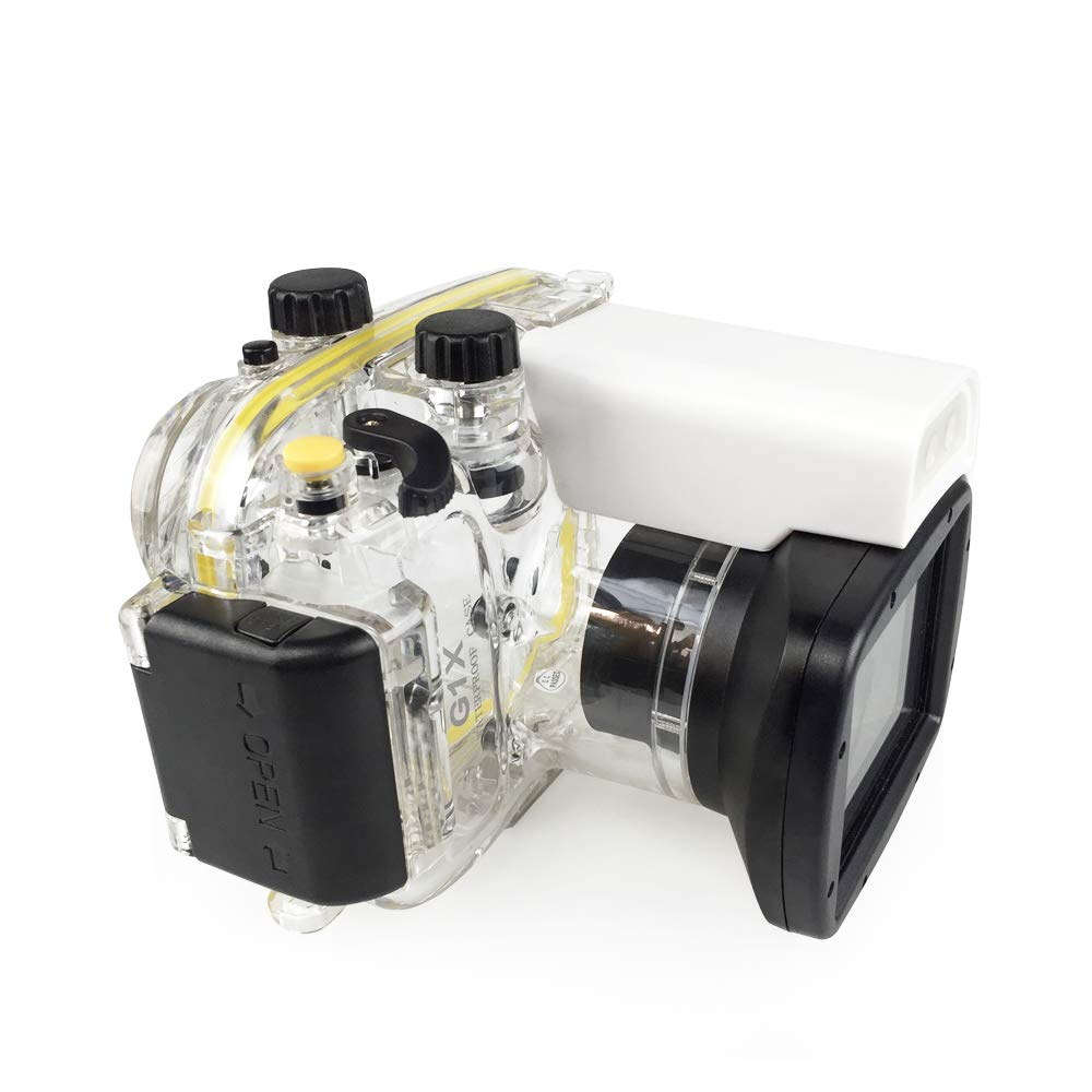 130FT/40M for <font><b>Canon</b></font> Powershot G1 X <font><b>G1X</b></font> WP-DC44 Underwater Depth Diving <font><b>Case</b></font> Waterproof Camera Housing Cover Box image