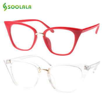 SOOLALA Cat Eye Reading Glasses Oversized Women Reading Glasses Colorful Presbyopia Glasses For Sight 0.5 0.75 1.0 1.25 to 4.0 - DISCOUNT ITEM  40% OFF All Category