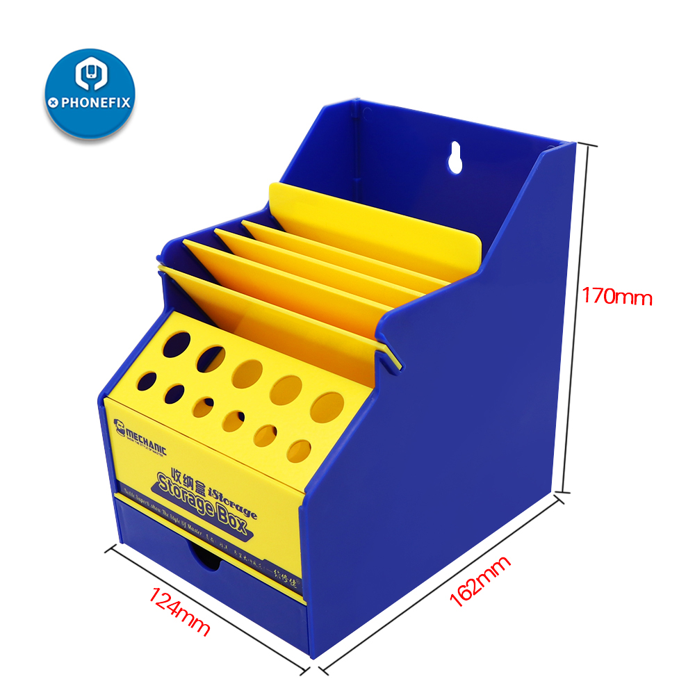 Mechanic PVC Multifunctional Office Desktop Helper Screwdriver Toolbox For Mobile Phone Repair Tools Classification Storage Box