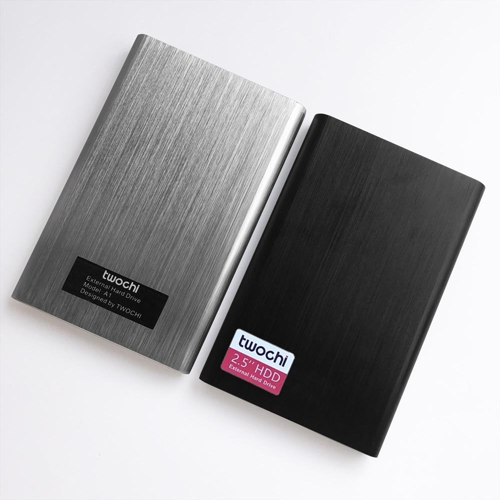 Купить с кэшбэком TWOCHI HDD 2.5'' External Hard Drive USB3.0 1TB 750GB 500GB 320GB 250GB 160GB 120GB 80GB Storage Portable Hard Disk for PC/Mac