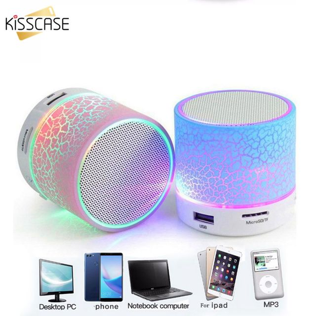 KISSCASE Bluetooth רמקול מיני אלחוטי רמקול סדק LED TF USB סאב bluetooth רמקולים mp3 סטריאו אודיו מוסיקה נגן