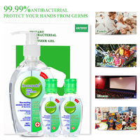 200ml+2pcs 50ml Antibacterial Hand Sanitizer Hand Disinfection Gel No-clean Quick-Dry Disposable Handgel 75% Ethanol Sanitizer