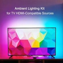 Omgevingslicht Tv Kit Voor Tv Hdmi-Compatibele Apparaten Droom Scherm 4K Tv Hdtv Pc Backlight Achtergrond Verlichting WS2812B Led Strip