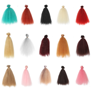 Bybrana puszyste wybuchu lalka bjd sd 1/3 1/4 1/6 ogólne peruka diy do włosów kurtyny do włosów wiersz 15cm Yaki