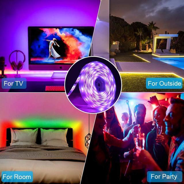 Goodland LED Strip 12V Ribbon LED Lights Strip RGB Tape SMD 5050 2835 Flexible 5M 10M Diode Tape with Remote LED Light for Room 5