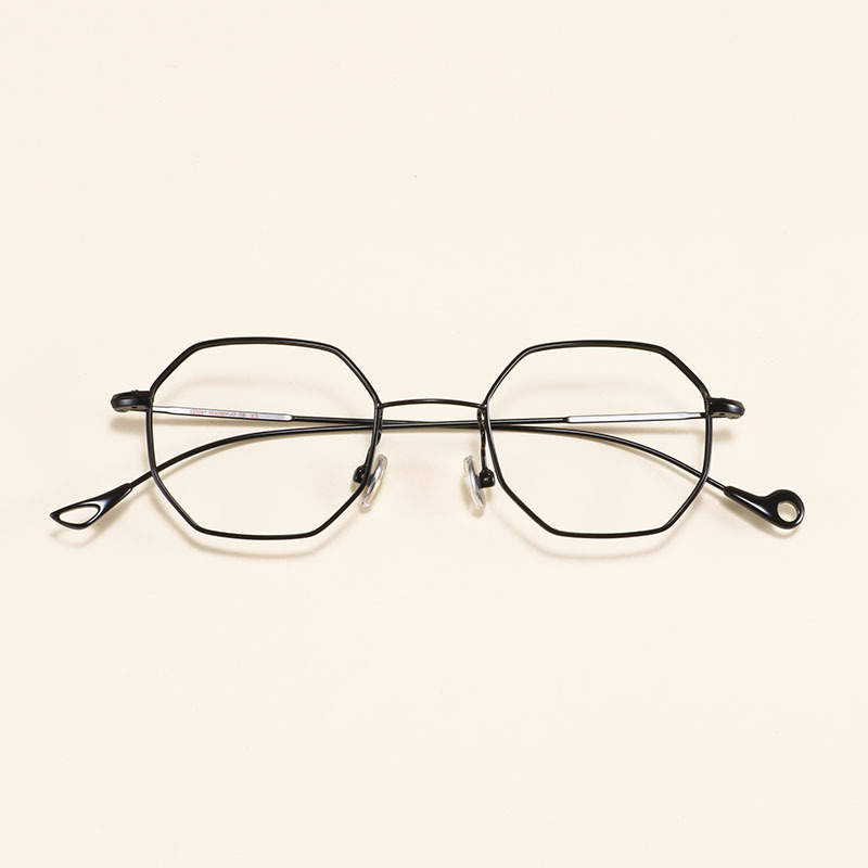 Alloy Optical Eyeglass Frame Women Men Myopia Prescription Eyeglasses Vintage Polygon Clear Lens Glasses Frames Eyewear Oculos image