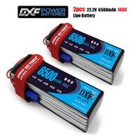Dxf 6S 22.2V 6500 Mah 100C-200C Lipo Batterij 6S XT60 T Deans XT90 EC5 Voor Fpv Drone vliegtuig Auto Racing Truck Boot Rc Onderdelen