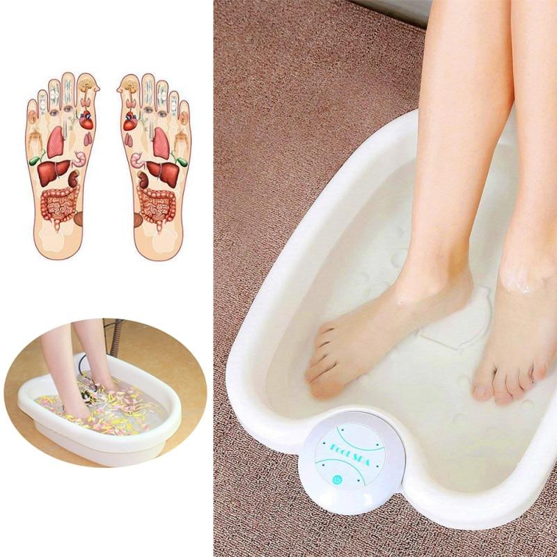 Produtos de saúde do pé da massagem do pé do massager bonde do pé da máquina da desintoxicação do banho dos termas do pé da máquina do massager do banho do pé mini-4