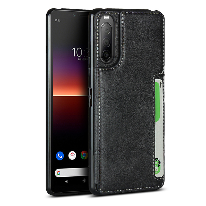 Soft Leather Stand Sony Xperia 10 II Cover With Lanyard Flip Wallet Shockproof Anti Scratch Kickstand Case For Sony Xperia 10 II
