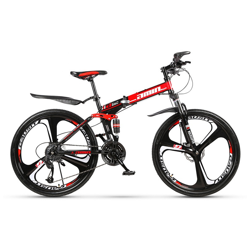 26 inch 21 Speeds Folding Mountain Bikes Adult Women Men Commuting Bicycle  Spoke Wheel/ Integrated Wheel Mountain MTB Bicycles