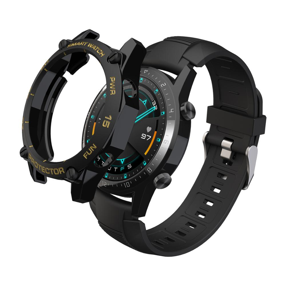 SIKAI TPU Protector Bumper <font><b>Watch</b></font> Cover Case for <font><b>Huawei</b></font> GT2 46mm Smart <font><b>watch</b></font> accessories <font><b>GT</b></font> <font><b>2</b></font> Shell Protector image