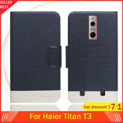 На Алиэкспресс купить чехол для смартфона 5 colors hot!! haier titan t3 case 5.8дюйм. flip ultra-thin leather exclusive phone cover fashion folio book card slots