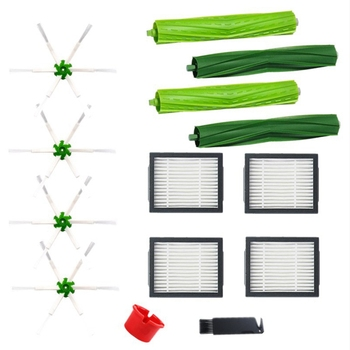 14Pcs Vacuum Cleaner Replacement Parts Hepa Filter Side Brush for Irobot Roomba E5 E6 I7 I7+ Vacuum Cleaner Accessories for irobot roomba i7 plus e5 e6 replacement accessories robot vacuum cleaner hepa filter brush roll sweeping spare parts