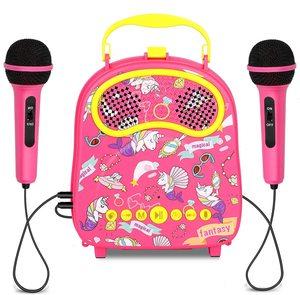 Crianças karaoke cantando máquina com trocador de voz aplausos bluetooth karaoke brinquedos para crianças