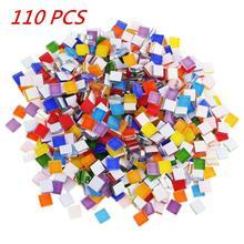 Около 110 шт многоцветные мозаичные плитки 1 см х 1 см для рукоделия, аксессуары для рукоделия, мозаичные плитки, украшения, горячая распродажа