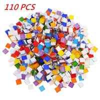 About 110 pcs Multi-Color Material Mosaic Tiles 1cm X 1cm For DIY Project Craft Supply Accessories Mosaic Tiles Decoration HOT
