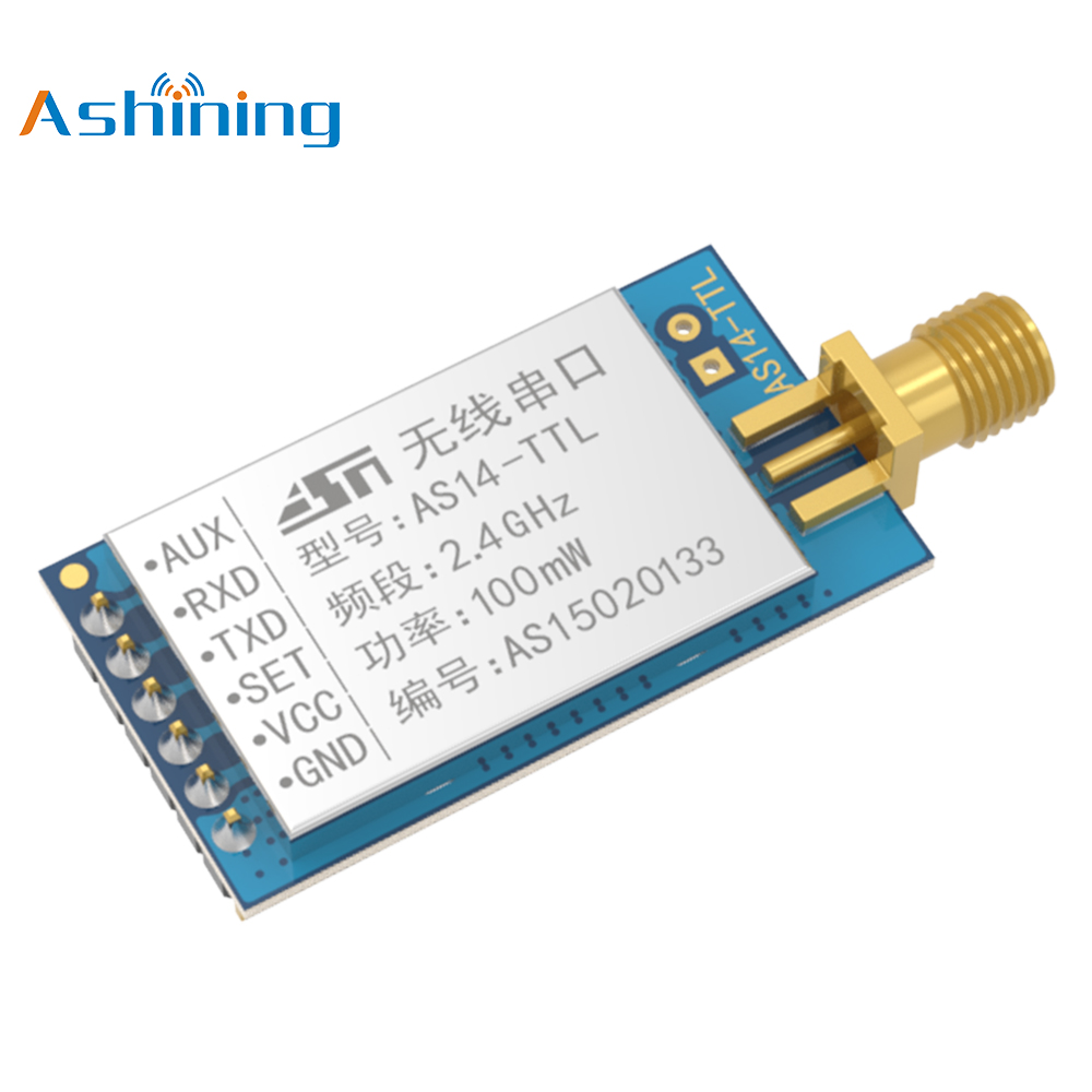 2.4GHz Industrial Wireless Transceiver AS14-TTL High Stability Module NRF24L01P