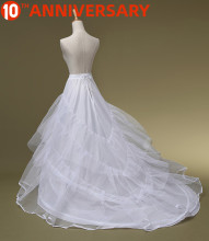 OLLYMURS Bridal Trailing Skirt Rims Plus Yarn Mermaid Wedding White Long Petticoat Wedding Accessories Lolita Petticoat