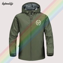 Manteau de Sport à capuche pour homme, coupe-vent 2021 Polyester, décontracté, plein Logo, à la mode, 100%