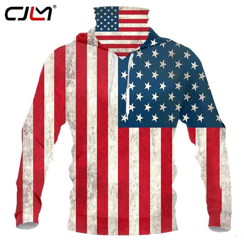 Купить cjlm новый 2020 американский флаг 3d принт для женщин/мужчин