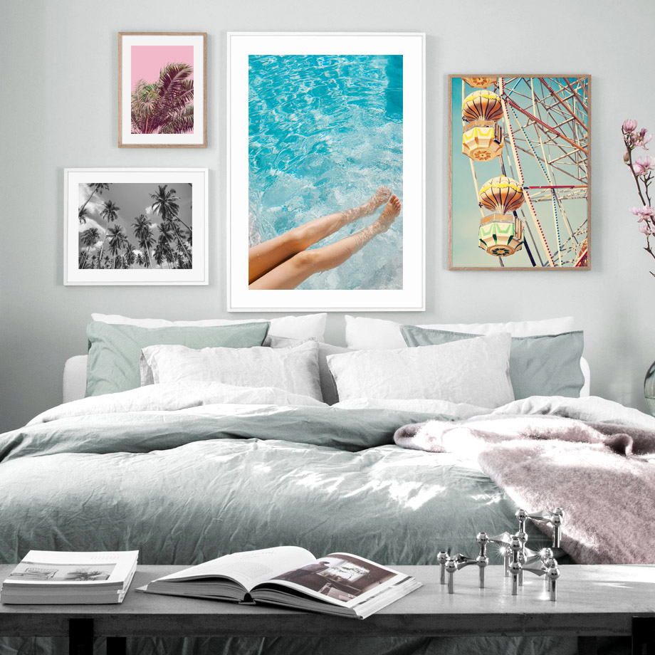 Ferris Wheel Modern Girl Plants Wall Art Canvas Painting Nordic Canvas Posters And Prints Wall Pictures For Living Room Bed Room in Painting Calligraphy from Home Garden