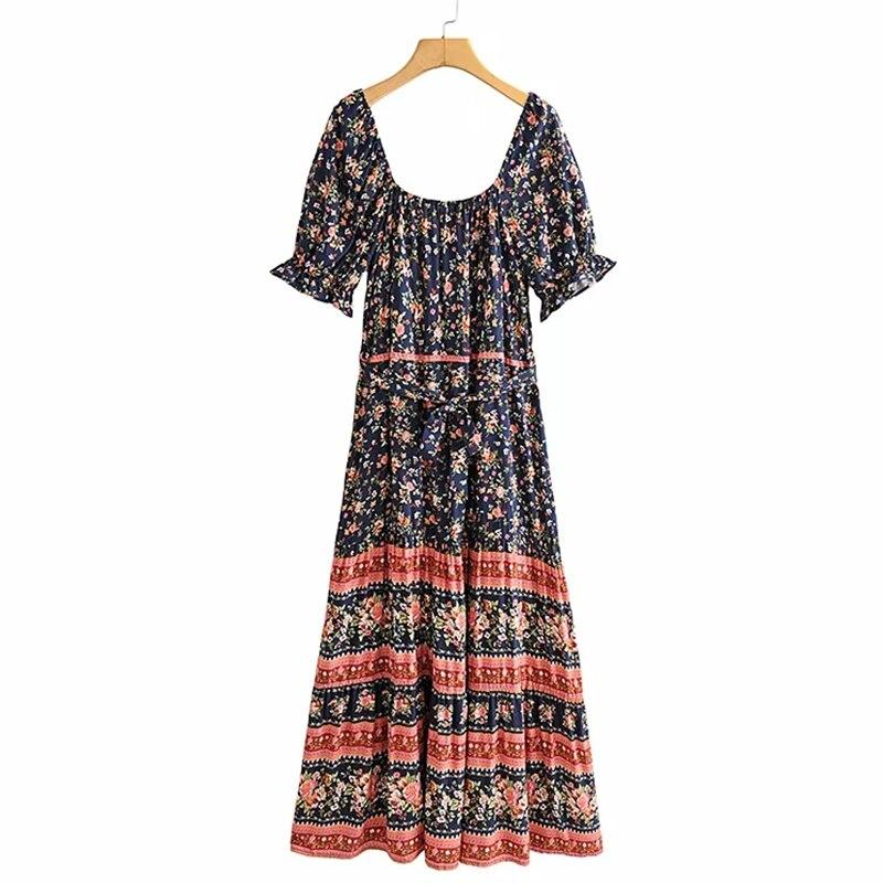 Купить женское платье макси gypsylady темно синее с цветочным принтом
