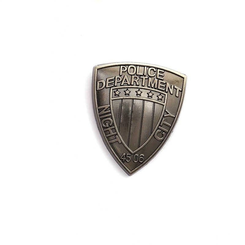 Jeu nuit ville Badge Punk 2077 Vintage broches pour hommes Tag Police département broche chemises manteau broches pour femmes bijoux broche