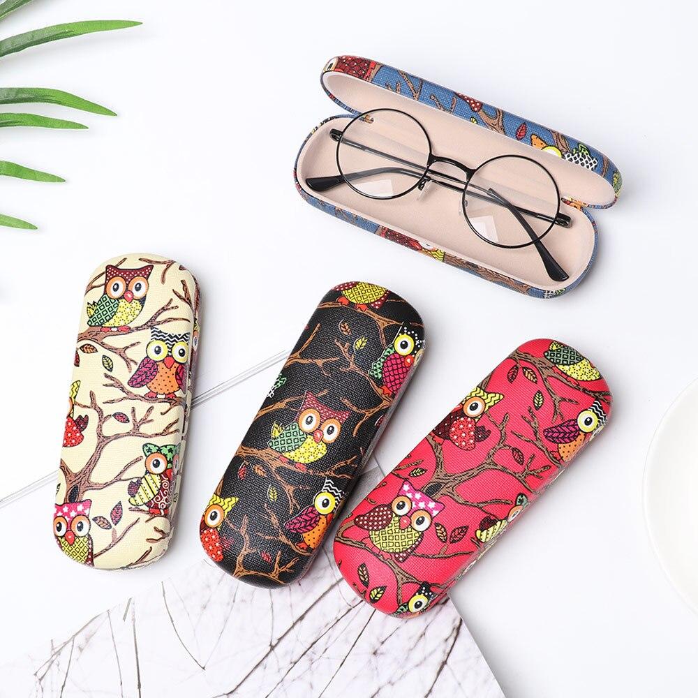 Portable Cartoon Folding Eyeglasses Box Glasses Case Holder Owl Animal Sunglasses Storage Protector Pouch Eyewear Accessories