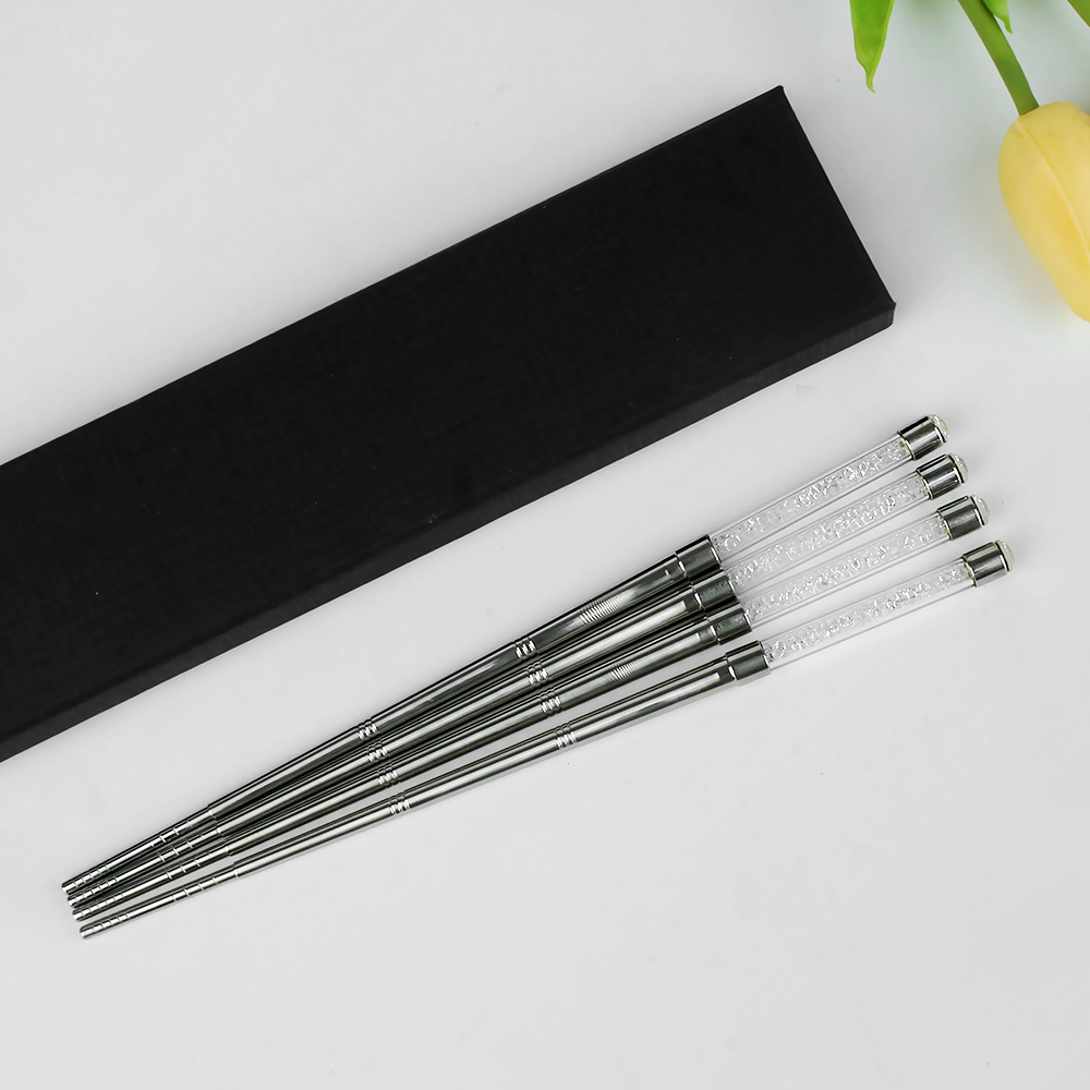 Exquisite Crafts Stainless Steel Chopsticks Japanese Chopsticks Set Metal Sushi Sticks Environment Friendly Reusable Sticks Set
