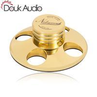 Douk Audio Hi Fi Records LP Disc Stabilizer Turntables Vinyl Clamp Anti skid Zinc alloy Silver / Pure Copper Gold