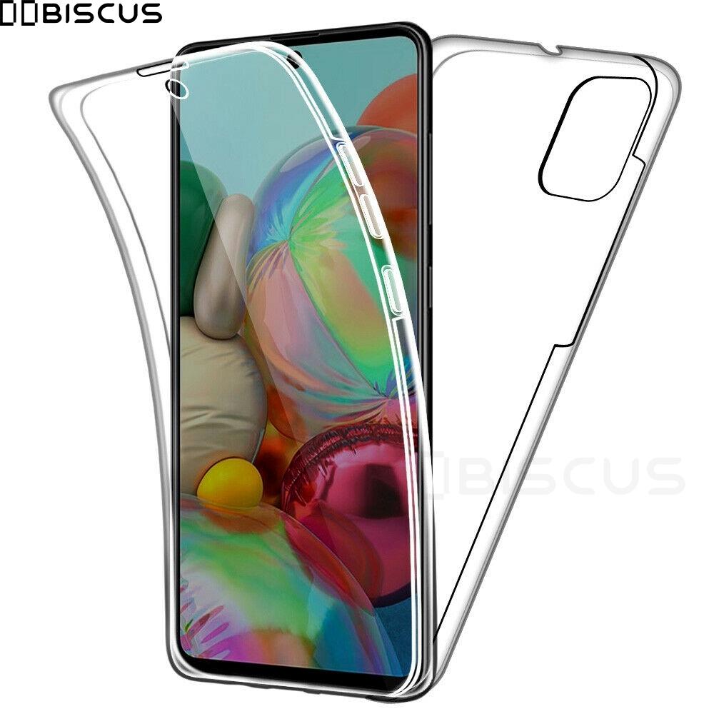 Двойной силиконовый чехол для Samsung Galaxy S20 Ultra S10 Plus S9 S8 A51 A71 A10 A20 A30 A40 A41 A21S A01 A31 Front полный корпус 360 гель Передняя Задняя крышка из ТПУ