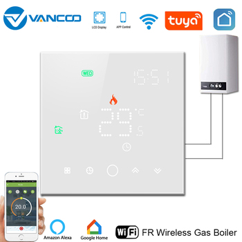 Vancoo Wifi Thermostat Digital Thermostat for Warm Floor Boiler Thermostat Thermoregulator Smart Temperature controller lcd touch screen smart wifi big digital temperature thermostat touch screen warm floor heat controller thermostat