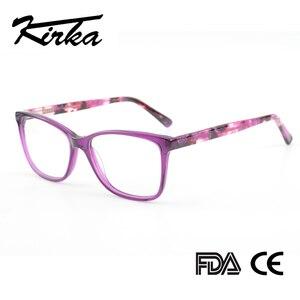 Image 1 - Kirka Purple Women Spectacles Frames Oversized Eyeglass Frames Clear Lens Glasses Optical Prescription Glasses Frame For Women