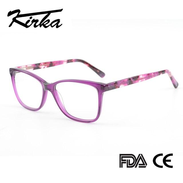 Kirka Purple Women Spectacles Frames Oversized Eyeglass Frames Clear Lens Glasses Optical Prescription Glasses Frame For Women