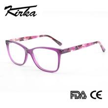 Kirka 紫女性眼鏡フレーム特大メガネフレームフレームクリアレンズメガネ光学処方メガネフレーム女性のための